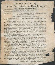 Dziennik Urzędowy Województwa Sandomierskiego, 1834, nr 39, dod. II