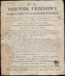 Dziennik Urzędowy Województwa Sandomierskiego, 1834, nr 40
