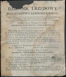 Dziennik Urzędowy Województwa Sandomierskiego, 1834, nr 42