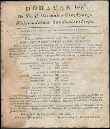 Dziennik Urzędowy Województwa Sandomierskiego, 1834, nr 43, dod. I