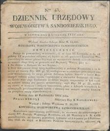 Dziennik Urzędowy Województwa Sandomierskiego, 1834, nr 45