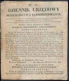 Dziennik Urzędowy Województwa Sandomierskiego, 1834, nr 46