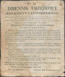 Dziennik Urzędowy Województwa Sandomierskiego, 1834, nr 49