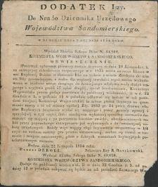 Dziennik Urzędowy Województwa Sandomierskiego, 1834, nr 50, dod. I