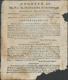 Dziennik Urzędowy Województwa Sandomierskiego, 1834, nr 50, dod. III