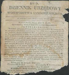 Dziennik Urzędowy Województwa Sandomierskiego, 1834, nr 51
