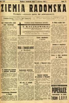 Ziemia Radomska, 1931, R. 4, nr 128