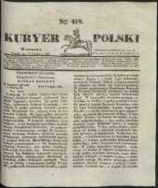 Kuryer Polski, 1831, nr 418