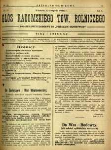 Przegląd Sejmikowy : Urzędowy Organ Sejmiku Radomskiego, 1926, R. 5, nr 30, dod.