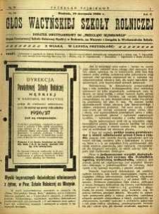 Przegląd Sejmikowy : Urzędowy Organ Sejmiku Radomskiego, 1926, R. 5, nr 32, dod.