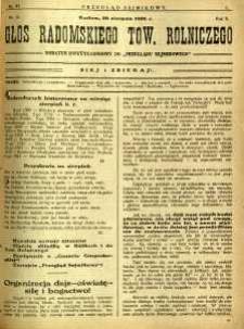Przegląd Sejmikowy : Urzędowy Organ Sejmiku Radomskiego, 1926, R. 5, nr 33, dod.