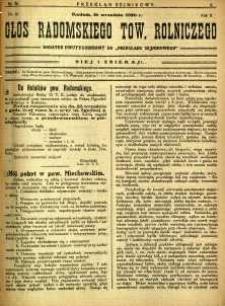 Przegląd Sejmikowy : Urzędowy Organ Sejmiku Radomskiego, 1926, R. 5, nr 36, dod.