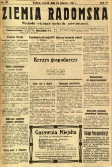Ziemia Radomska, 1931, R. 4, nr 141