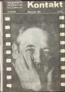 Kontakt : Wojewódzki Informator Kulturalny, 1989, nr 1