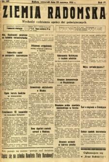 Ziemia Radomska, 1931, R. 4, nr 143