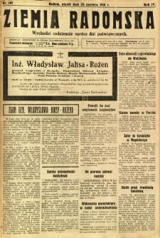 Ziemia Radomska, 1931, R. 4, nr 144
