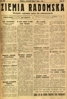 Ziemia Radomska, 1931, R. 4, nr 148