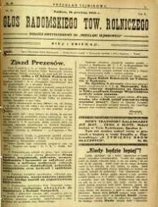 Przegląd Sejmikowy : Urzędowy Organ Sejmiku Radomskiego, 1926, R. 5, nr 49, dod.