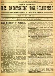 Przegląd Sejmikowy : Urzędowy Organ Sejmiku Radomskiego, 1927, R. 6, nr 4, dod.