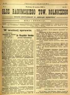 Przegląd Sejmikowy : Urzędowy Organ Sejmiku Radomskiego, 1927, R. 6, nr 10, dod.