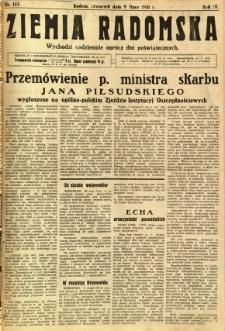 Ziemia Radomska, 1931, R. 4, nr 154