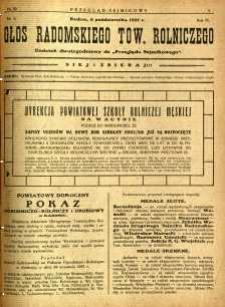 Przegląd Sejmikowy : Urzędowy Organ Sejmiku Radomskiego, 1927, R. 6, nr 39, dod.
