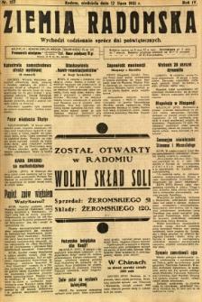 Ziemia Radomska, 1931, R. 4, nr 157