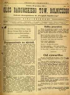 Przegląd Sejmikowy : Urzędowy Organ Sejmiku Radomskiego, 1927, R. 6, nr 50, dod.