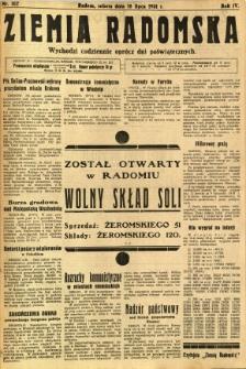 Ziemia Radomska, 1931, R. 4, nr 162