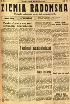 Ziemia Radomska, 1931, R. 4, nr 164