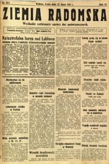 Ziemia Radomska, 1931, R. 4, nr 165