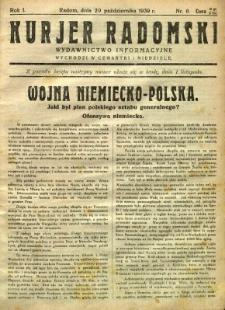 Kurier Radomski, 1939, R. 1, nr 6