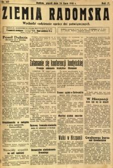 Ziemia Radomska, 1931, R. 4, nr 167