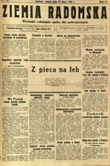 Ziemia Radomska, 1931, R. 4, nr 168