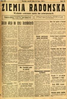 Ziemia Radomska, 1931, R. 4, nr 173