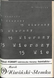 Kontakt : Wojewódzki Informator Kulturalny, 1986, nr 8, dod. Małe Formy nr 9