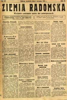 Ziemia Radomska, 1931, R. 4, nr 175