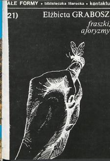 Kontakt : Wojewódzki Informator Kulturalny, 1990, nr 1, dod. Małe Formy nr 21