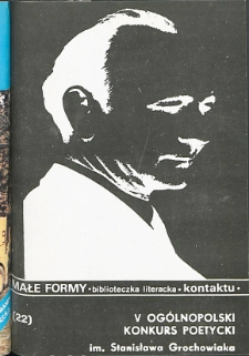 Kontakt : Wojewódzki Informator Kulturalny, 1990, nr 4, dod. Małe Formy nr 22