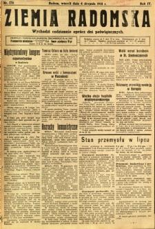 Ziemia Radomska, 1931, R. 4, nr 176
