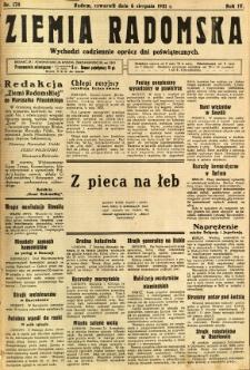 Ziemia Radomska, 1931, R. 4, nr 178