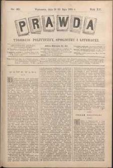Prawda : tygodnik polityczny, społeczny i literacki, 1895, R. 15, nr 20