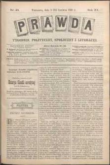 Prawda : tygodnik polityczny, społeczny i literacki, 1895, R. 15, nr 24
