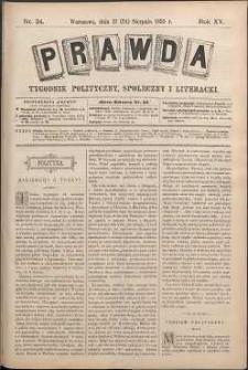 Prawda : tygodnik polityczny, społeczny i literacki, 1895, R. 15, nr 34