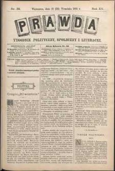 Prawda : tygodnik polityczny, społeczny i literacki, 1895, R. 15, nr 39