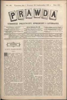 Prawda : tygodnik polityczny, społeczny i literacki, 1895, R. 15, nr 40