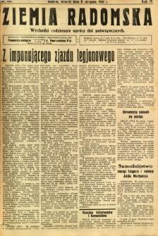 Ziemia Radomska, 1931, R. 4, nr 182
