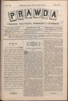 Prawda : tygodnik polityczny, społeczny i literacki, 1895, R. 15, nr 50