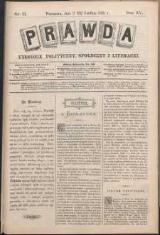 Prawda : tygodnik polityczny, społeczny i literacki, 1895, R. 15, nr 51