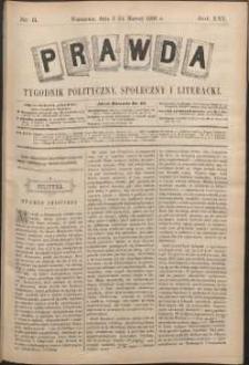Prawda : tygodnik polityczny, społeczny i literacki, 1896, R. 16, nr 11